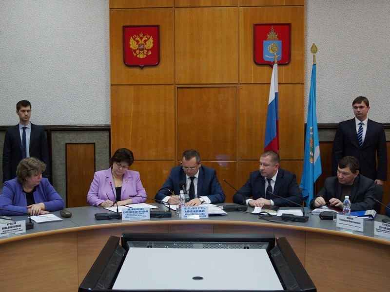 12 декабря подписано Соглашение о взаимодействии с Думой Астраханской области шестого созыва