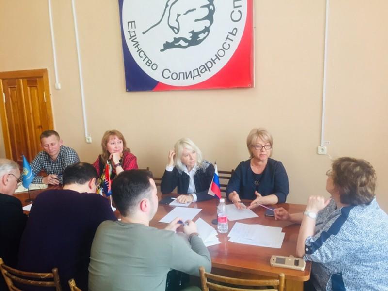 Состоялось заседание Астраханской региональной группы координационного комитета солидарных действий ФНПР