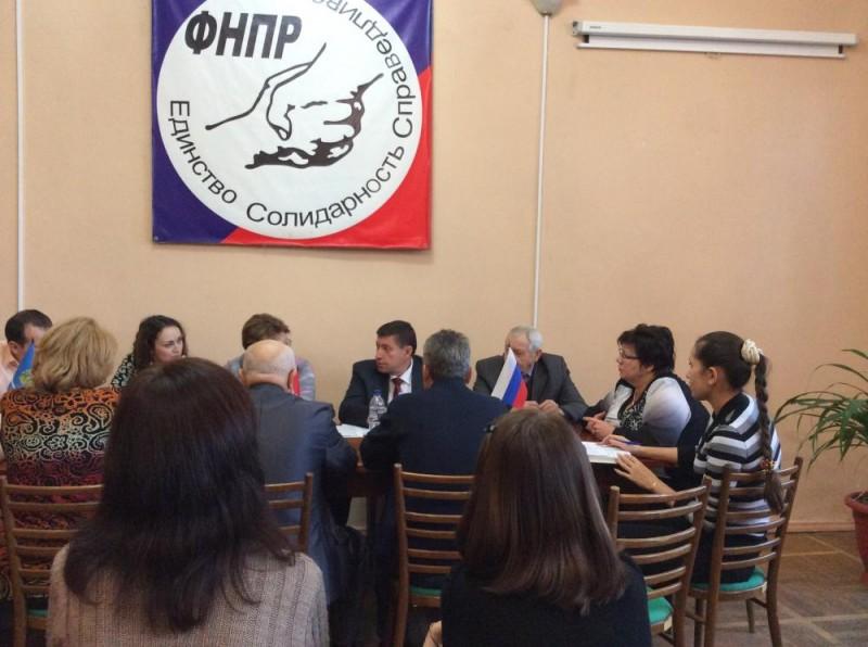 20 ноября 2014 года состоялся рабочий визит Заместителя председателя ФНПР Кришталя Д.М. в Астрахань