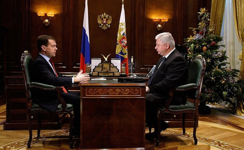 Встреча Дмитрия Медведева и Михаила Шмакова